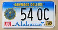 ALABAMA 2008 OAKWOOD COLLEGE