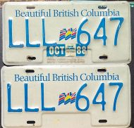 BRITISH COLUMBIA 1988 PAIR