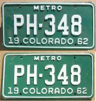 COLORADO 1962 METRO TRUCK PAIR