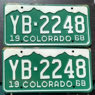 COLORADO 1968 PAIR