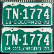 COLORADO 1970 PAIR