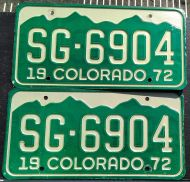 COLORADO 1972 PAIR