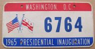 WASHINGTON DC 1965 INAUGURATION