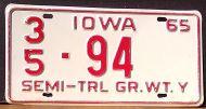IOWA 1965 SEMI TRAILER