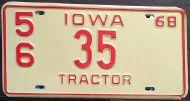 IOWA 1968 TRACTOR