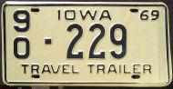 IOWA 1969 TRAVEL TRAILER