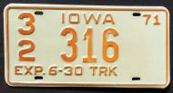 IOWA 1971 HALF YEAR TRUCK