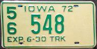 IOWA 1972 HALF YEAR TRUCK