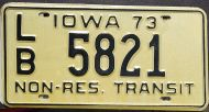 IOWA 1973 NON RESIDENT TRANSIT