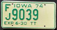 IOWA 1974 HALF YEAR TRUCK TRACTOR