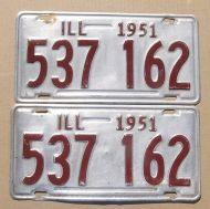 ILLINOIS 1951 PAIR