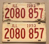 ILLINOIS 1953 PAIR