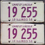 ILLINOIS 1958 PAIR