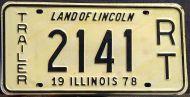 ILLINOIS 1978 RECREATIONAL TRAILER