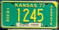 KANSAS 1977 TRUCK PRORATE