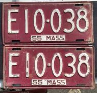 MASSACHUSETTS 1955 PAIR