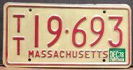 MASSACHUSETTS 1978 TRAILER
