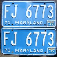 1975 MARYLAND PAIR