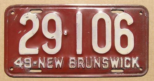 NEW BRUNSWICK 1949