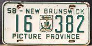 NEW BRUNSWICK 1958