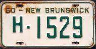 NEW BRUNSWICK 1960 HIRE TAXI