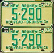 NEW BRUNSWICK 1976 PAIR