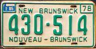 NEW BRUNSWICK 1985 - B