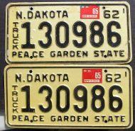 NORTH DAKOTA 1965 TRUCK PAIR