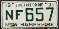 NEW HAMPSHIRE 1971 - A