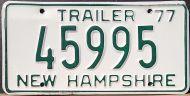 NEW HAMPSHIRE 1977 TRAILER