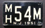 NEW JERSEY 1951 - B