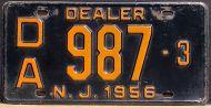 NEW JERSEY 1956 DEALER