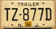 NEW JERSEY 1982 TRAILER