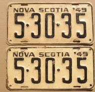 1949 NOVA SCOTIA PAIR
