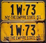 NEW YORK 1951 PAIR