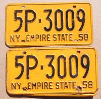 1958 NEW YORK PAIR
