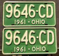 OHIO 1961 PAIR
