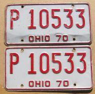 OHIO 1970 PAIR