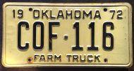 OKLAHOMA 1972 FARM TRUCK