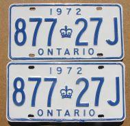 ONTARIO 1972 PAIR