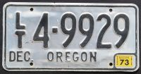 OREGON 1973 LIGHT TRAILER
