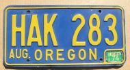1974 OREGON BLUE
