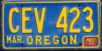OREGON 1976 BLUE
