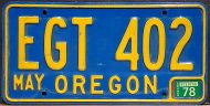 OREGON 1978 BLUE