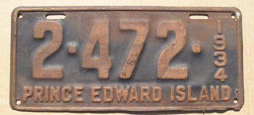 PRINCE EDWARD ISLAND 1934