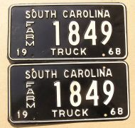 SOUTH CAROLINA 1968 FARM TRUCK PAIR