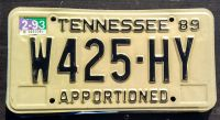 1994 TENNESSEE APPORTIONED TRUCK
