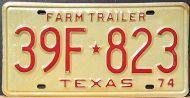 TEXAS 1974 FARM TRAILER