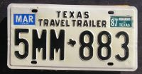 1987 TEXAS TRAVEL TRAILER