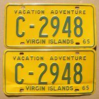 US VIRGIN ISLANDS 1965 PAIR